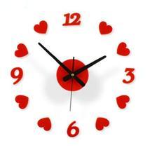 Fashion Creative Simple Art DIY Living room decorative Wall Clock,RED - $18.77