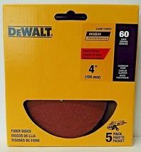"Dewalt DARB1F0605 4"" 60 Grit Aluminum Oxide Fiber Sanding Discs 5 Pack - $3.22"