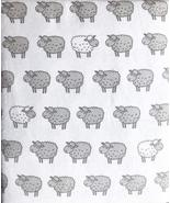 Nate and Nat Gray and White Lambs Sheep Flannel Sheet Set Queen - $85.00