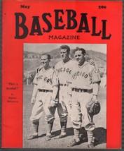 Baseball Magazine 5/1939-Bartell-Mancuso-Leiber-Ott-MLB-pix-info-FN - $109.13