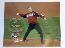 George W Bush Washington Nationals Glossy 8 X 10 Photo RFK Stadium DM1 - $5.99