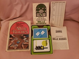 1971 Vintage Parker Brothers Mille Bornes French Card Game  - $11.99