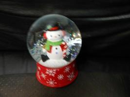 """Hallmark """"Snowman"""" Glass Snow Glitter Water Globe Figurine 5""""H  - $36.58"""