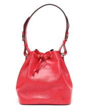 Auth Louis Vuitton EPI Shoulder Bag Red Leather PVC Noe Drawstring Logo ... - $661.32
