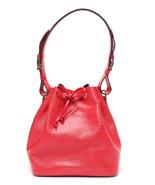 Auth Louis Vuitton EPI Shoulder Bag Red Leather PVC Noe Drawstring Logo ... - $661.32