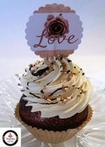 Rustic Farmhouse Fake Cupcake Vanilla Decoration Prop - $8.41