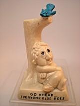 """1968 R W Berries Figurine #763 """"Go Ahead Everyone Else Does"""" Bird Poop Tree - $14.85"""