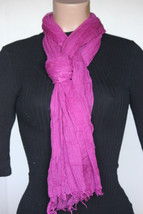 NEW Collection 18 Eighteen Women's Neck Scarf Fuchsia Pink 22x72 100% modal - $10.88