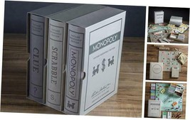 Scrabble, Monopoly, and Clue Vintage Board Game Bookshelf Collection - $143.68