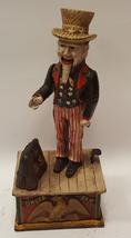 Vintage 1920-30s USA Uncle Sam Iron Savings Bank Mechanical Moving Arm/B... - $637.00