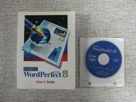 Corel WordPerfect 8 Suite - Software CD plus User's Guide Book Manual 1997 - $17.25