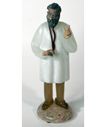 "8"" Vintage Czech Art Glass Doctor Holding Stethoscope American Cut Crystal - $142.49"