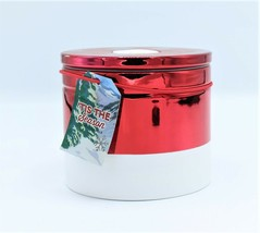 Bath & Body Works Tis the Season Large Three Wick Ceramic Candle 14.5oz Foil Red - $23.74