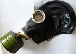 USSR RUSSIAN RUBBER SOVIET GAS MASK GP-5 Black MILITARY all size's 0,1,2... - $2.96