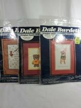 3 Dale Burdett Vintage 1985 a country cross stitch kits loveable bears  - $9.99