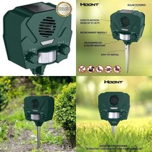 Hoont Animal Trap With Springs Solar Ultrasonic Outdoor Repellent And Pe... - $36.85