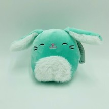 "Squishmallows Sammy Bunny Green 5"" Easter Stuffed Animal Kellytoy NWT - $13.99"