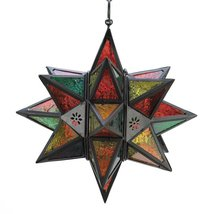 Star Candle Lantern, Modern Colored Hanging Lantern Stars  Outdoor - $42.99