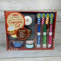 Melissa & Doug Wooden Bake and Decorate Cupcake Set Play Food Preschool  New - $18.67