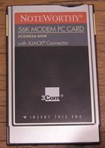 3Com Noteworthy PCMCIA 56k Modem PC Card XJACK Model 3CXM056-BNW - $4.12