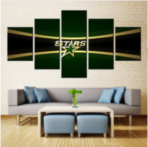 5 Piece Dallas Stars Sports Team HD Canvas Painting Frames Wall Art Home... - $25.95+