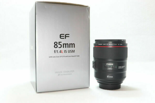 Canon EF 85mm f/1.4L IS USM Lens w/filter,pouch