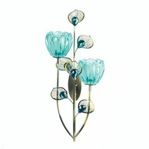PEACOCK BLOSSOM DUO CUP SCONCE - $32.62