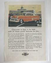 Chevrolet È Primo IN It 'S Campo 1954 Bel Air 4Door Sedan Vtg Stampa Ad - $28.72