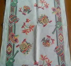 VNTAGE LINEN PRINT KITCHEN TOWEL ~ SOUTHWEST OR MEXICAN THEME - $7.91