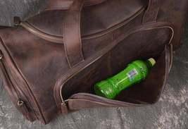 On Sale, Full Grain Leather Gym Bag, Vintage Travel Bag, Duffel Bag image 6