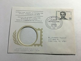 GERMANY  ALBERT SCHWEITZER  STAMP  FIRST DAY COVER 1-15-1975 - $4.70