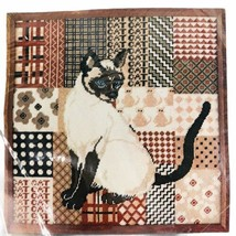 1977 Dimensions Needlepoint Kit Siamese Cat Patchwork Maria Hart Picture... - $34.60