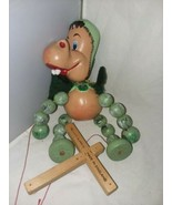 Pelham Puppet Wood Toy Marionette Baby Dinosaur 1960's England Needs Res... - $21.99