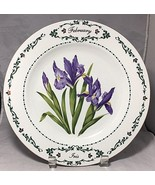 "Iris Flowers of February  10-1/2"" plate made for Domestications in 1996 - $5.89"