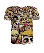 Zombie Dead Shirt Unisex Shirt Sz Juniours Large Apocalypse Rainbow Mult... - $14.99