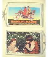 HAROLD and MAUDE Key Chain Bud Cort Ruth Gordon Belgium Cat Stevens Hal ... - $7.99