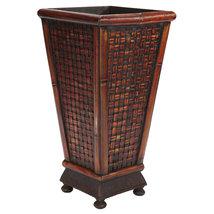 Bamboo Wicker Look Designer Decorative Planter Kitchen Bath  - $68.50