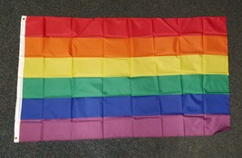 "Rainbow Flag Big 3 x 5 FT Gay Pride Lesbian 36"" x 60"" LGBT Bisexual Tran... - $18.49"
