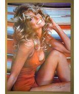 """FARRAH FAWCETT POSTER 1976 Original Rolled in Sleeve 28"""" x 20"""" - $29.00"""