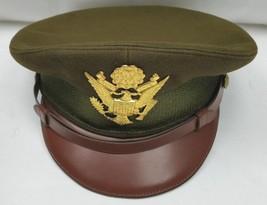 Vtg Rare WW II Raleigh Haberdasher Army Military  Leather Trim Uniform Cap - $152.85