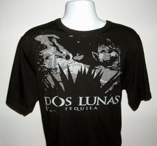 Mens Dos Lunas Tequila t shirt XL black gray logo agave plant - $21.73