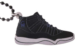 Good Wood NYC Space Jam 11's Sneaker Necklace Black/Blue/White XI Shoes NEW image 1