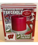 UW Wisconsin Badgers Musical Fan Candle - Plays On Wisconsin When Lit! New - $12.12