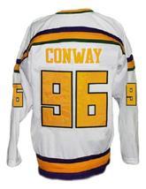 Custom Name # Mighty Ducks Retro Hockey Jersey New White Conway #96 Any Size image 2
