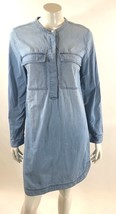 J Crew Womens Light Indigo Shirt Dress Size Small Blue Long Sleeve - $31.67