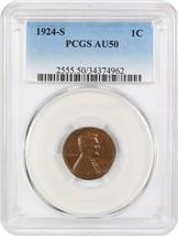 1924-S 1c PCGS AU50 BN - Lincoln Cent - $92.15