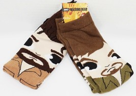2 PC WALKING DEAD CREW SOCKS 6-12 - AMC DARYL DIXON & RICK GRIMES 2017 S... - $9.88