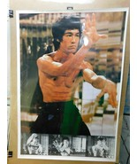 Vintage Bruce Lee Poster W160 Taiwan Collage   E7 - $49.49