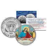 JESUS CHRIST * LAST SUPPER * JFK Kennedy Half Dollar US Colorized Coin R... - $166,84 MXN