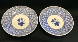 """Spode Blue Geranium  5-3/4"""" Tea Cup Saucers Set of 2 England - $22.99"""